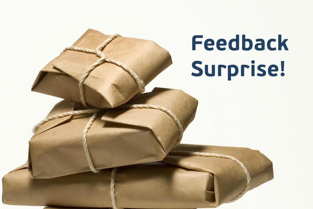 parcels feedback surprise