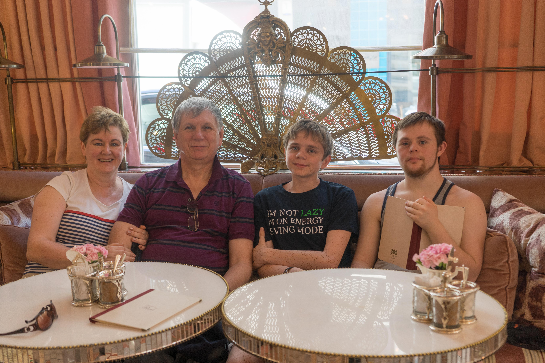 A happy family at the Patisserie de Pera