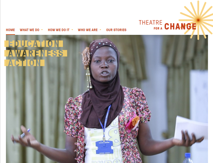 Theatre for a Change website