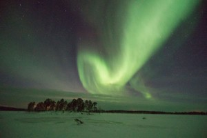 The Northern Lights on Lake Inari that evening